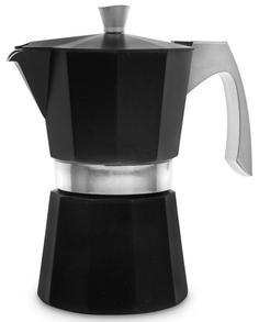 Гейзерные кофеварки IBILI Evva Кофеварка гейзерная на 9 чашек, цвет черный, для всех типов плит, литой алюминий
