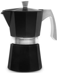 Гейзерные кофеварки IBILI Evva Кофеварка гейзерная на 6 чашек, цвет черный, для всех типов плит, литой алюминий