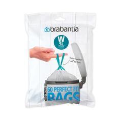 Аксессуары для мусорных вёдер и баков Brabantia Мешки для мусора PerfectFit, размер W (5 л), упаковка-диспенсер, 60 шт.