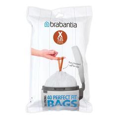 Аксессуары для мусорных вёдер и баков Brabantia Мешки для мусора PerfectFit, размер X (10-12 л), упаковка-диспенсер, 40 шт.