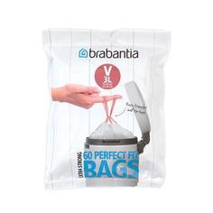 Аксессуары для мусорных вёдер и баков Brabantia Мешки для мусора PerfectFit, размер V (3 л), упаковка-диспенсер, 60 шт.