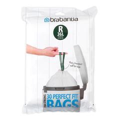 Аксессуары для мусорных вёдер и баков Brabantia Мешки для мусора PerfectFit, размер R (36 л), упаковка-диспенсер, 20 шт.