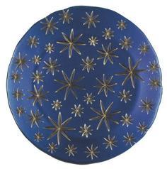 Блюда Nachtmann Golden Stars Charger Plate Blue/Gold, тарелка