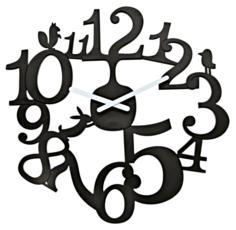 Koziol [pi:p] Часы настенные, чёрные