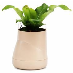 Кашпо Qualy Горшок цветочный Hill Pot, большой, кремовый