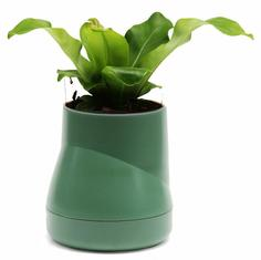 Кашпо Qualy Горшок цветочный Hill Pot, большой, зеленый