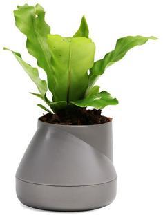 Кашпо Qualy Горшок цветочный Hill Pot, маленький, серый