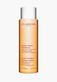 Лосьон для лица Clarins Cleansing Тонизирующий для сухой чувствительной кожи, 200 мл