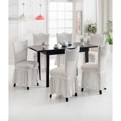 Набор чехлов для стульев 6 предметов Juanna (8029 натуральный)