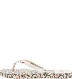Сланцы Пляжные сланцы с цветочным принтом Pepe Jeans
