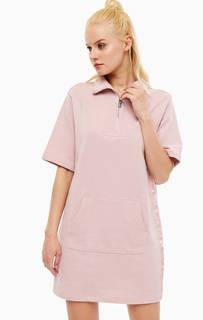 Платье Розовое платье с высоким воротом Dkny