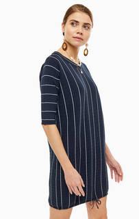 Платье Короткое платье из вискозы в полоску Stefanel