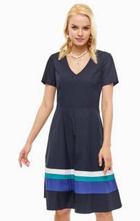 Платье из хлопка с треугольным вырезом Marc Opolo