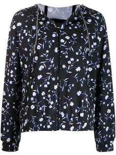 DKNY куртка с цветочным принтом и полосками