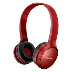 Наушники с микрофоном PANASONIC RP-HF410BG, Bluetooth, накладные, красный