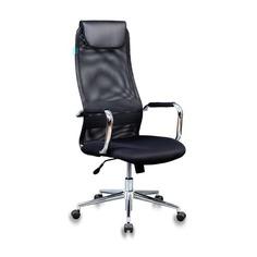 Кресло руководителя БЮРОКРАТ KB-9N/BLACK, на колесиках, сетка, черный