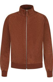 Замшевая куртка-бомбер на молнии Andrea Campagna