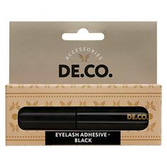 Клей для ресниц и пучков DE.CO. EYELASHES ADHESIVE черный на латексной основе 5 мл Deco