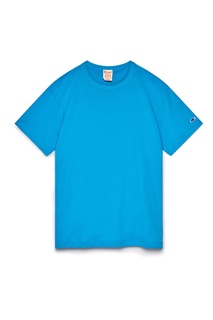 Голубая футболка с логотипом Champion