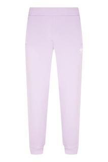 Сиреневые брюки с логотипом-трилистником Adidas