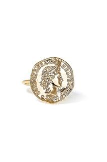 Кольцо с оттиском монеты Lisa Smith