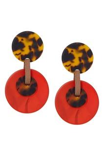 Пластиковые серьги-диски Aloud