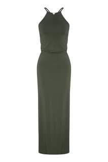 Платье-макси оттенка хаки Emporio Armani
