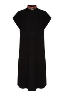 Черное платье с рукавом-реглан Emporio Armani