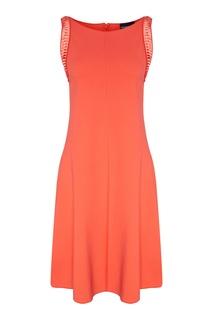 Платье из эластичной ткани Emporio Armani