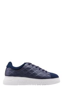 Темно-синие кроссовки на платформе Emporio Armani