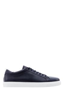 Черные кожаные кеды с логотипом Emporio Armani