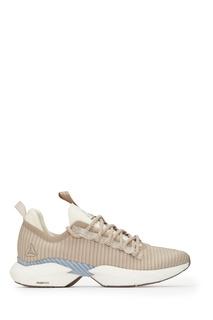Комбинированные бежевые кроссовки Reebok