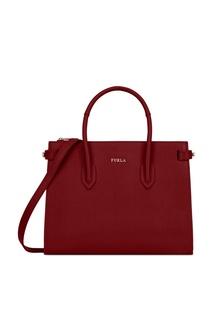 Бордовая сумка Pin Furla
