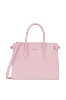 Розовая кожаная сумка Pin Furla