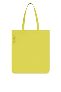 Желтая кожаная сумка Man Oceano Furla