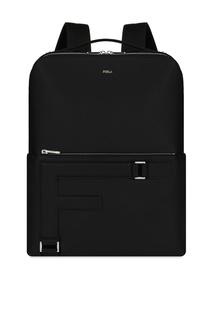 Черный кожаный рюкзак Man Febo Furla