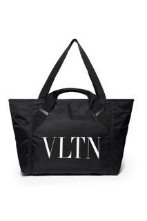Черная сумка с логотипом Valentino
