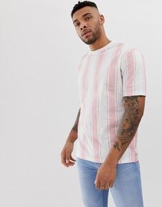 Oversize-рубашка в полоску Another Influence - Розовый