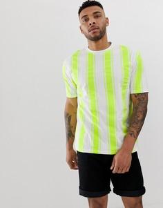 Oversize-рубашка в полоску Another Influence - Зеленый
