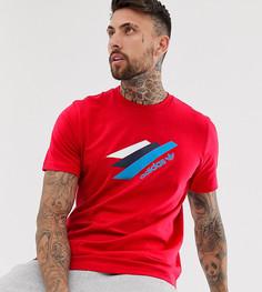 Красная футболка Adidas Originals - Palemston - Красный