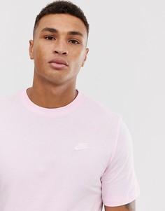 Розовая футболка с логотипом Nike Club AR4997-663 - Розовый