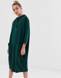 Платье с капюшоном Monki - Зеленый
