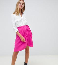 Юбка с запахом Vero Moda petite - Розовый