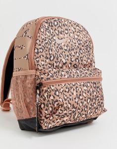 Маленький рюкзак с леопардовым принтом и надписью just do it Nike - Мульти
