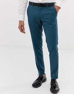 Синие брюки узкого кроя Esprit - Синий
