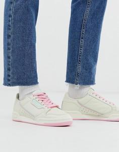 Бежево-мятные кроссовки adidas Originals Continental 80 - Белый