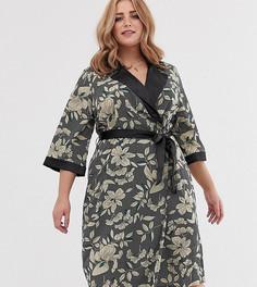 Платье миди с запахом и цветочным принтом Koko - Мульти