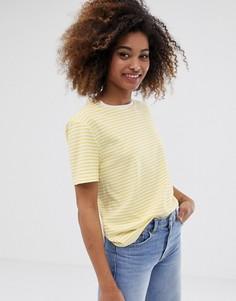 Свободная футболка в полоску Dr Denim - Желтый