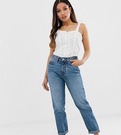 Выбеленные джинсы в винтажном стиле из переработанного материала ASOS DESIGN Petite - Ritson - Синий