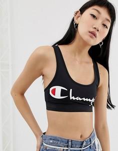 Кроп-топ с логотипом Championt - Черный